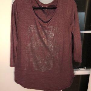 Lucky brand hamsa 3-4 length shirt